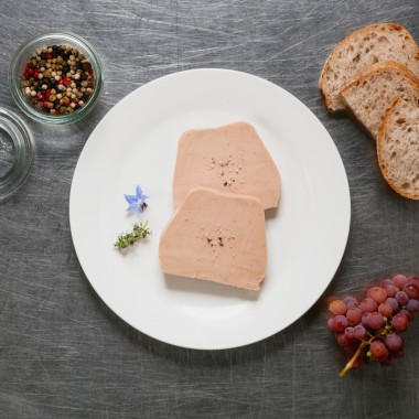 Foie gras d'oie Tradition, 2 tranches - 120g
