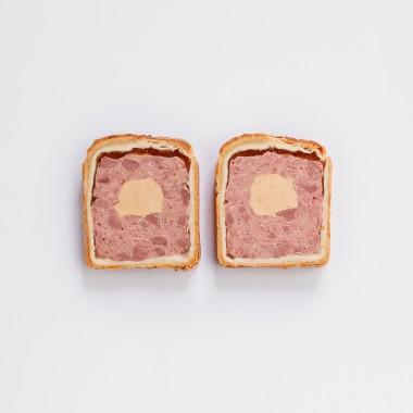 Pâté en croûte fourré au foie gras de canard - 300g