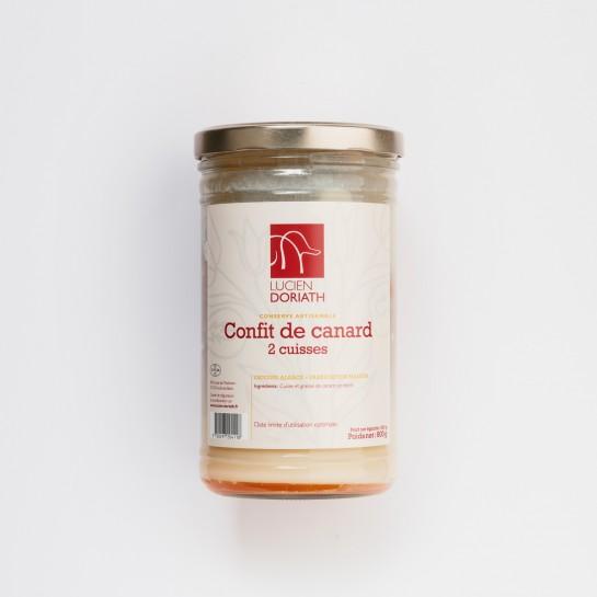 Confit de canard 2 cuisses (égoutté) - 450g