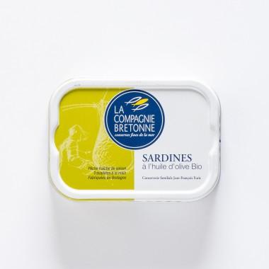 La Compagnie Bretonne du Poisson Sardines à l'Huile d'Olive BIO